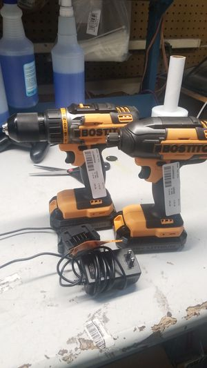 Bostitch impact drill set 2 18v lithium batteries for Sale in Jacksonville, FL