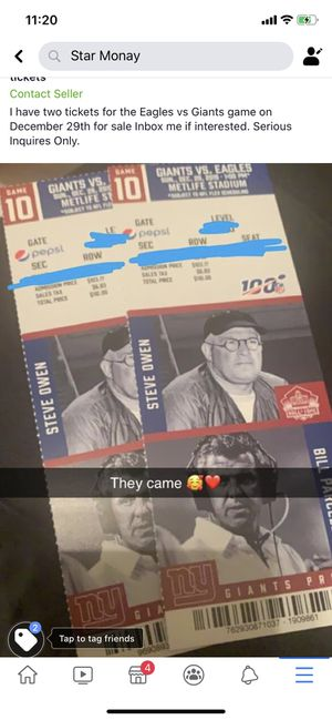 Eagles vs Giants tickets for Sale in Harrisburg, PA