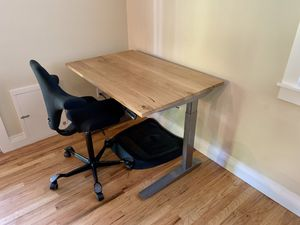 fully Jarvis standing desk, desk chair, and ergo mat for Sale in Portland, OR