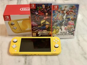 Nintendo Switch Lite/ Super Smash Bros/ Marvel Ultimate Alliance 3 for Sale in Alexandria, VA