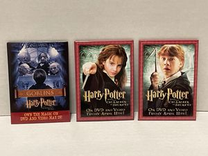 3 Harry Potter DVD collector's pins buttons Sorcerer's Stone Chamber of Secrets for Sale in Albany, OR