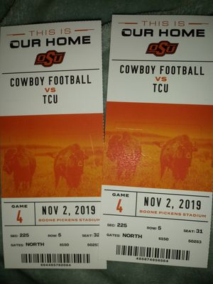 2 Osu vs Tcu tickets $150 for Sale in Tulsa, OK