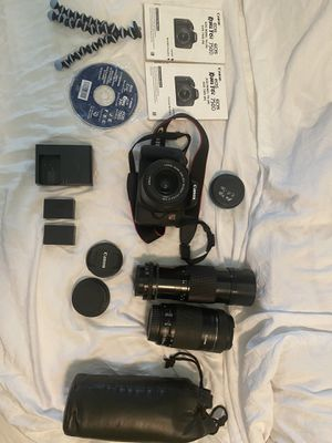 CANON REBEL T6i BUNDLE 3 LENSES + MORE for Sale in Los Angeles, CA