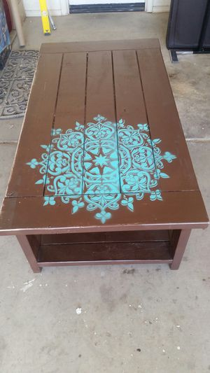 Painted Wood Coffee Table for Sale in Phoenix, AZ