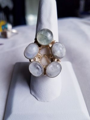 Opals and sterling silver ring, size 9 for Sale in Bangor, ME