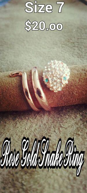 Rose Gold Snake Ring for Sale in Waycross, GA