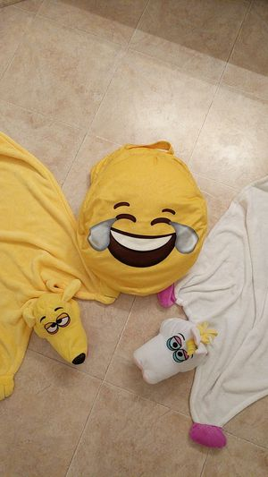Emoji Beanbag Chair and Cuddleuppet Blankets for Sale in Wake Forest, NC