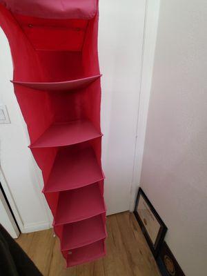 6 slots sturdy canvas fabric hanging organizer shelf for Sale in San Francisco, CA