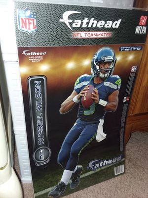 """Fathead NFL Russel Wilson decal 9""""W x 17"""" Tall for Sale in Tacoma, WA"""
