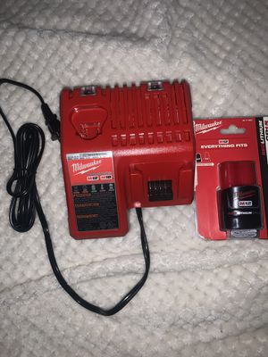 Miluakee charger and battery for Sale in Gonzales, LA