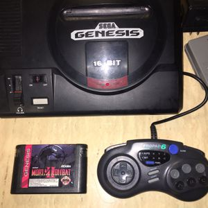 Original Sega Genesis With Mortal Kombat II for Sale in Sycamore, IL