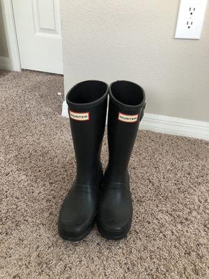 Hunter Original Big Kids Rain Boots: Black Size 5 for Sale in Tampa, FL
