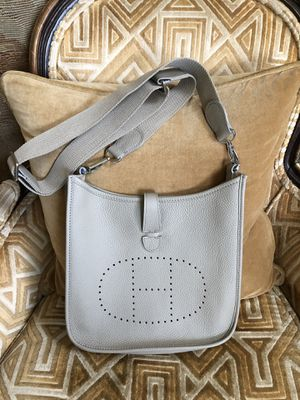 Evelyne Hermès Leather Crossbody Bag in Taupe Color NEW for Sale in Miami, FL