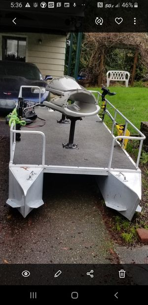 2 person 9ft pontoon boat for Sale in Gig Harbor, WA