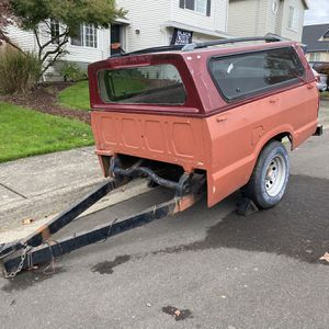 Mazda truck bed utility Trailer w/canopy Heavy Duty for Sale in Tigard, OR