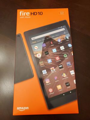 """Amazon Fire HD 10.1"""" Tablet latest 2019 version + free custom case($39 value) for Sale in Odessa, FL"""