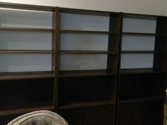 3 Dark Bookshelves With Bottom Cabinets for Sale in Mercer Island,  WA