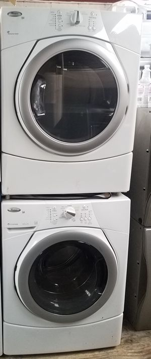 WHIRLPOOL DUE:FRONT LOAD GAS DRYER W WASHER.. 71INCHES H X 27WIDTH for Sale in La Mirada, CA