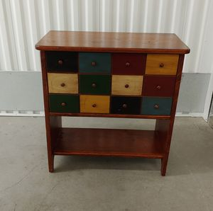 Color Block Front Flip-top Cabinet/ end table / nightstand for Sale in Seattle, WA