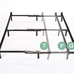 Bed frame - Twin, Full, or Queen (adjusts) black Steel - Free for Sale in Portland, OR