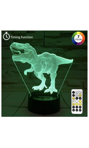 Dinosaur Toys, T Rex 3D Night Light 7 Colors Changing Night Lights for Kids with Timer & Remote Control & Smart Touch, T Rex Toys Birthday Gifts for for Sale in Montclair, CA
