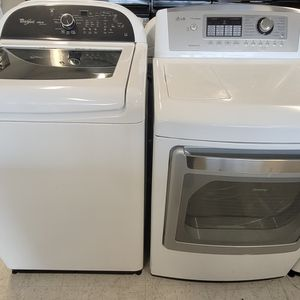 Whirlpool Tap Load Washer And Electric Dryer Mix And Match Set Used In Good Condition With 90day's Warranty for Sale in Washington, DC