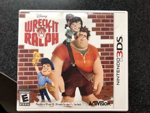 Wreck-it Ralph Nintendo 3DS Game - Used for Sale in Griswold, CT