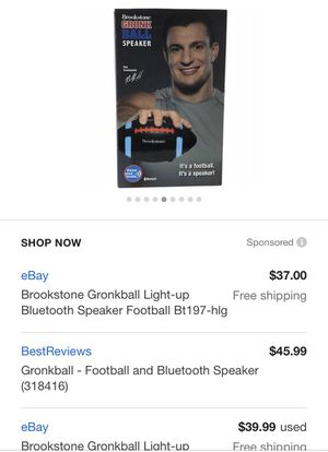 Brookstone wireless Bluetooth football speaker for Sale in Ambridge, PA