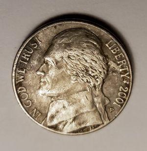 2001 Philadelphia Jefferson Error Nickel Circulated for Sale in Orange, CA
