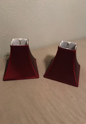 Lamp shades Burgundy for Sale in Bakersfield, CA