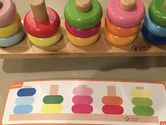 Classic Toy Brand Stacking Ring Balance Toy for Sale in Sammamish,  WA