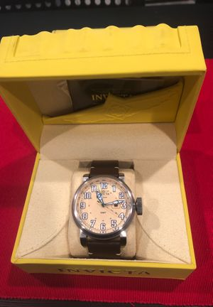 Invicta Aviator GMT 52mm leather strap watch for Sale in Bartow, FL