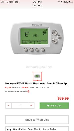 honeywell programable thermostat for Sale in San Diego, CA