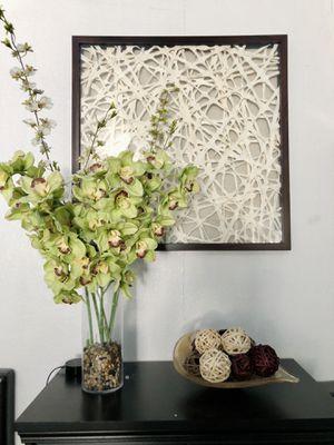 Faux Green Cybidium Orchids Vase for Sale in San Jose, CA