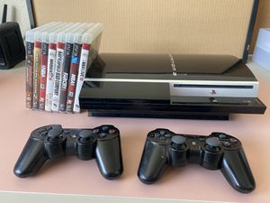 Backward Compatible Ps3, games, 2 controllers for Sale in Rocklin, CA