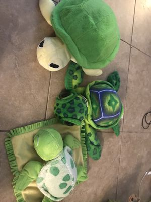 Turtles toys/stuffed animals for Sale in Plantation, FL