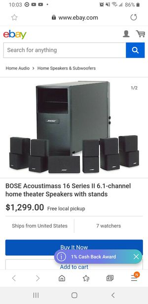 Bose acoustimass 16 5.1 channel home theater speakers with stand used good condition for Sale in Pleasanton, CA