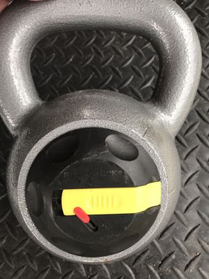 Rocketlok adjustable kettle bell only 2 adjustments 24lbs and 28lbs for Sale in Fort Worth, TX
