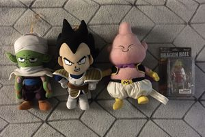 Dragon Ball-Z Plushes Piccolo, Vegeta, Marin B, Broly for Sale in Fremont, CA