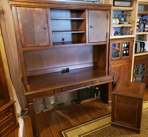 Hutch Style Desk & file drawer hard Wood (not particle board) read description for details and measurements for Sale in VLG WELLINGTN, FL