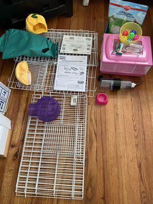 Cage (and accessories) for guinea pig hamster small critter for Sale in Virginia Beach, VA