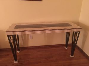 Glass and Stone Console Table for Sale in Brooklyn, NY