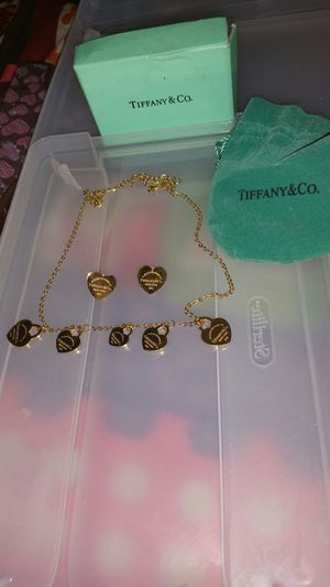 Tiffany necklace and earrings set for Sale in Houston, TX