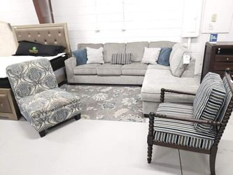 ACCENT CHAIR $20❗❗❗❗ With purchase of NEW GREY SECTIONAL SOFA $779!!!.. Sectional available in dark grey!. Sleeper option is 299 more. for Sale in Oviedo,  FL