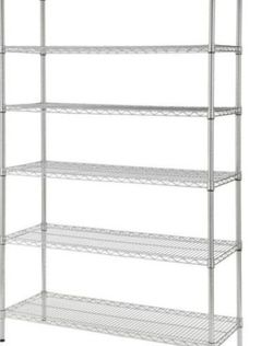 Chrome 6-Tier Heavy Duty Metal Wire Shelving Unit (48 in. W x 72 in. H x 18 in. D) for Sale in Litchfield Park,  AZ