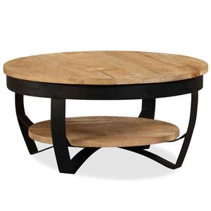 """Solid Rough Mango Wood Coffee Table 25.6"""" Living Room Desk Side Stand Magazine for Sale in Temple City, CA"""