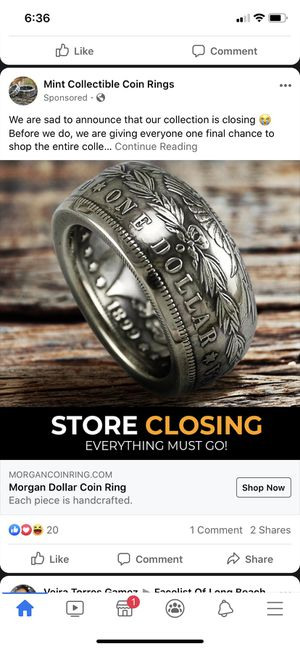 Dollar ring for Sale in Lakewood, CA