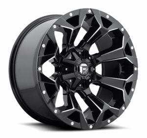 "FUEL ASSAULT D756 MATTE BLACK 20"" 20X9 6X135 6X139 RIMS AND M/T TIRES for Sale in Norwalk, CA"