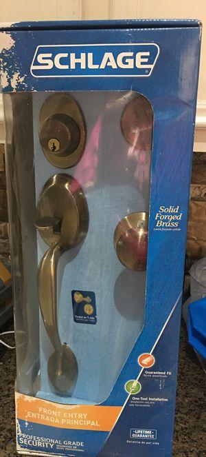 New Schlage Brass Front Door Entry Door Handles for Sale in Katy, TX