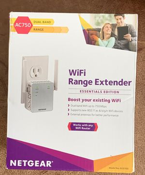 NETGEAR WiFi Range Extender EX3700 AC 750 Duel Band for Sale in Los Angeles, CA